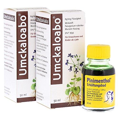 Umckaloabo Doppelpack + Pinimenthol Erkältungsbad 2x 50ml + 30ml Milliliter