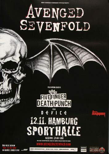 Avenged Sevenfold - Acid Rain, Hamburg 2013 » Konzertplakat/Premium Poster   Live Konzert Veranstaltung   DIN A1 «