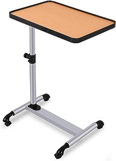 COSTWAY Mesa para Ordenador con Ruedas de Freno Altura