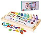 JW-YZWJ Forma de los niños Juguetes educativos Digitales de la Tarjeta logarítmica Triple Puzzle cognitiva Junta logarítmica Puzzle