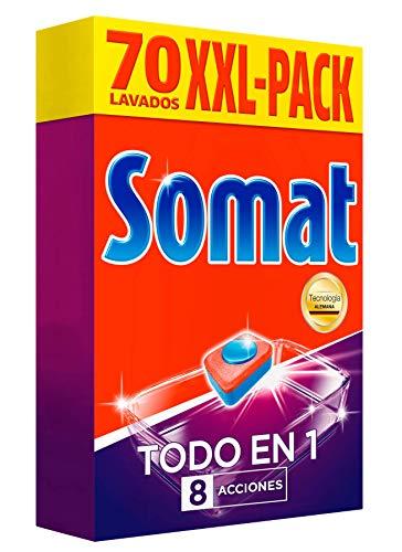 Somat Todo en 1 Pastillas Lavavajillas - 70 Dosis