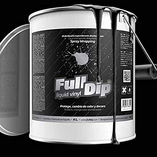 AutoFullCar TiendaFullDip.com - Full Dip Negro Mate Bote 4 litros Vinilo LÍQUIDO FULLDIP Listo para Pintar