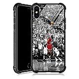 iPhone Xs Hülle, Basketball Legend YKL0A001 iPhone X Hüllen für Männer Frauen Fans, Design Muster Rückseite Stoßstange Stoßfest Anti Kratzer verstärkte Ecken Weiche TPU Hülle für iPhone X/Xs