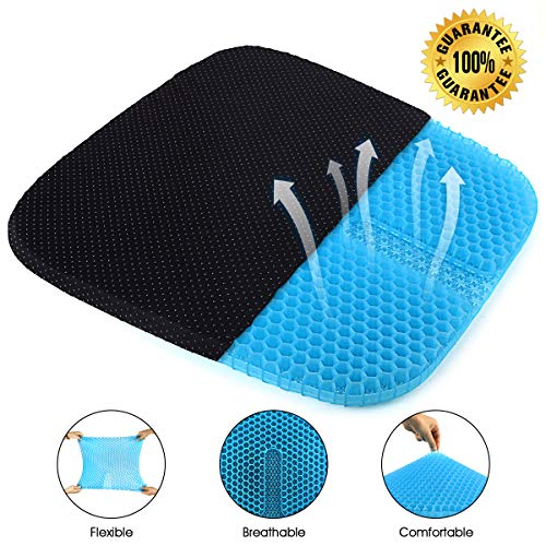 ZNCMRR Gel Seat Cushion for Office Chair, Soft Honeycomb Egg Seat Cushion with Non-Slip Cover for Sciatica and Tailbone Pain Relief, Perfect for Wheelchair, Car, Desk Chair
