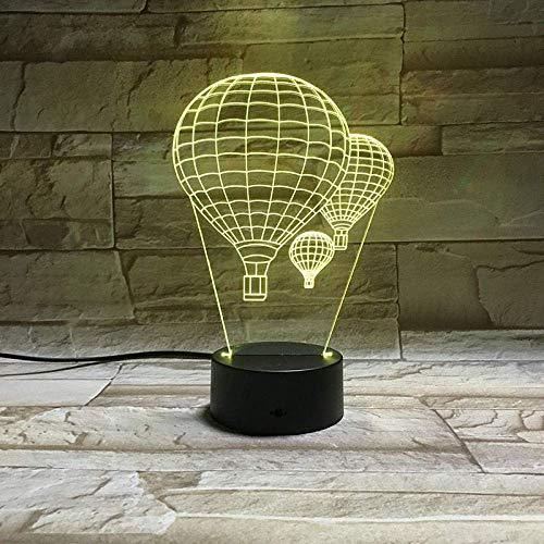 3D Ilusión LED Luz nocturna finalmente lámpara de escritorio creativa para cumpleaños Cambio de color colorido, con interfaz USB