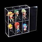 Vitrina acrílica transparente montada con puerta corredera, expositor de juguetes antipolvo, caja de protección de pantalla para minifiguras Funko Mini Pop – 19,5 x 7 x 23 cm