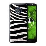 Stuff4® Hülle/Case für Motorola Moto G6 Plus 2018 / Zebra Muster/Tierpelz Muster Kollektion