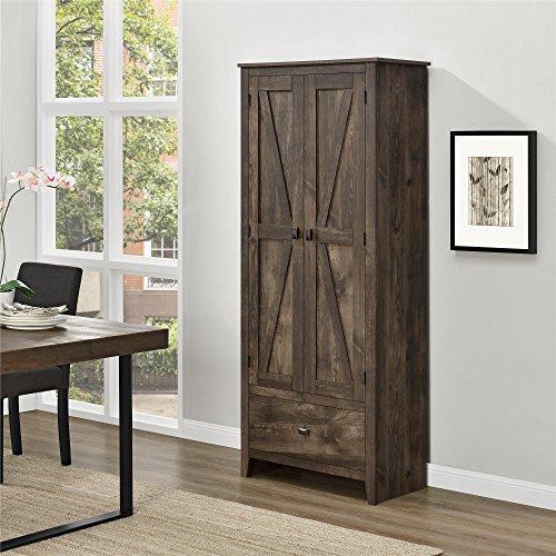 "Ameriwood Home Farmington Wide Storage Cabinet, 30"", Rustic"