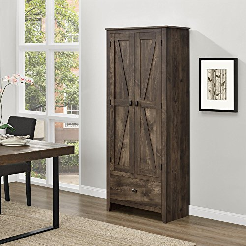 Ameriwood Home Farmington Wide Storage Cabinet, 30', Rustic