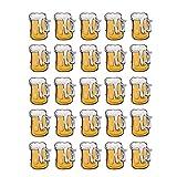 TOYMTOY Cartoon Brooch Pins Cute Beer Mug Flashing LED Light Up Badge Oktoberfest Decorations Beer Festival Favors Size 25pcs