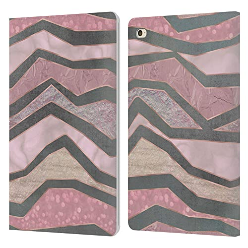 Head Case Designs Officially Licensed LebensArt Glamour Stripes Pastel Liquid Geode Leather Book Wallet Case Cover Compatible With Apple iPad mini 4