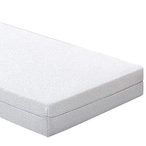 SLEEPGUARD 7 zones 2 in 1 matras 90 x 200 cm ademend comfort schuim matras 2 hardheidsgraden H3 + H4 Oeko-Tex Standard 100 Afneembare overtrek geschikt voor mensen met een allergie Made in Germany ritssluiting