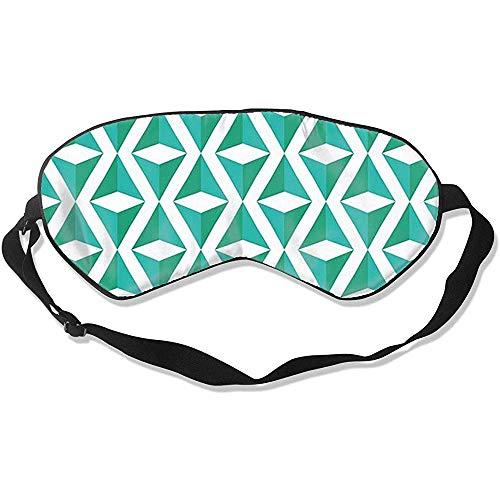 Slaapmasker, supergladde ogen met geometrisch patroon voor een nachtrust