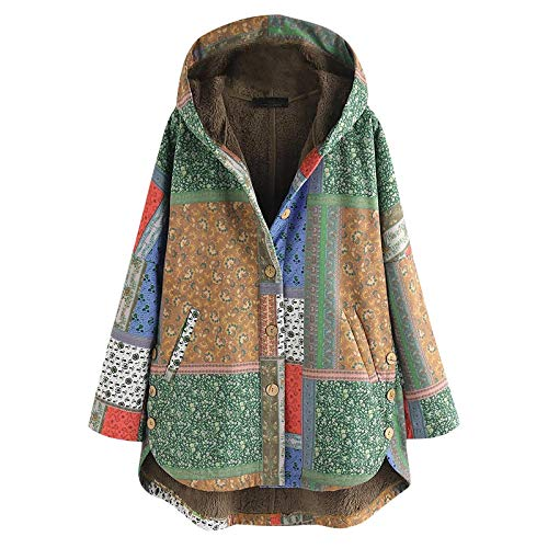 Jobewnipz Damen Winter Jacke,Lange ÄRmel Wolle Mantel Mit Taschen Cardigan Jacke Plüsch Oberbekleidung