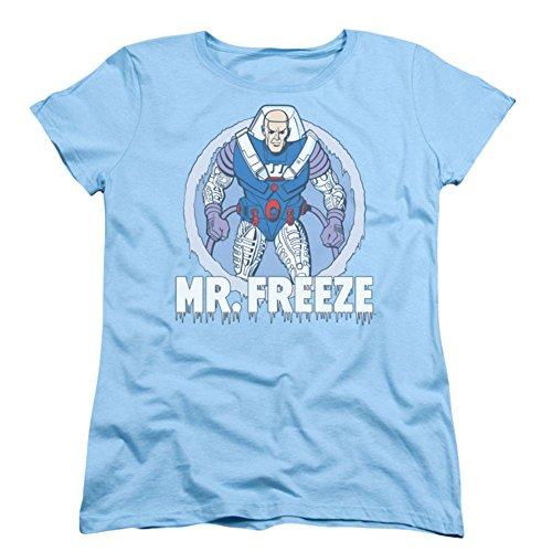 Dc Comics - Mr. Freeze mujeres de la camiseta de color azul...