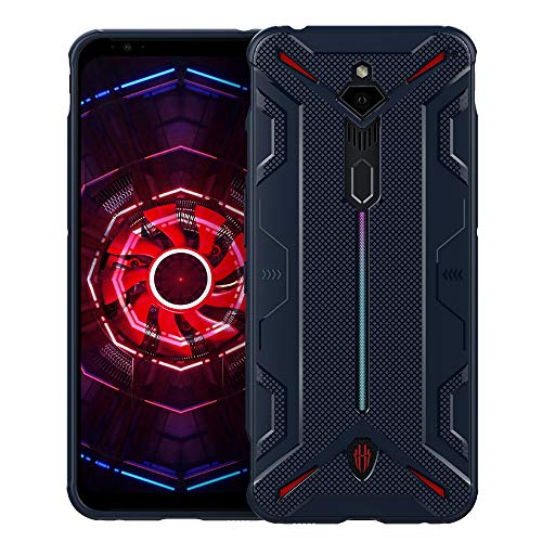 Preisvergleich Produktbild CRESEE Red Magic 3 Hülle Case,  Schutzhülle Soft Silikon Cover Bumper Stoßfest Handyhülle Fall für ZTE Nubia Red Magic 3 / Red Magic 3s (Blau)