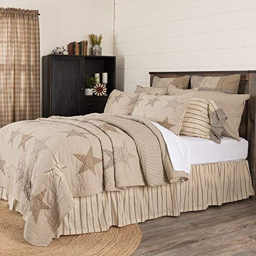 Find Discount 1 Piece Farmhouse Quilt Cal King, Featuring Stitch in The Ditch and Channel Hand-Quilt...