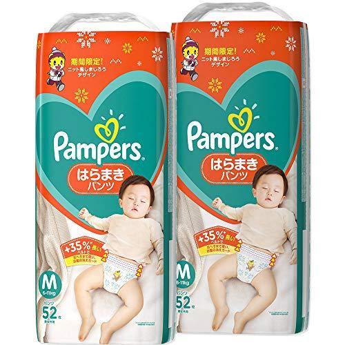 【パンツ Mサイズ】パンパース オムツ さらさらケア はらまきパンツ (6~11kg) 104枚(52枚×2パック) [ケース品]