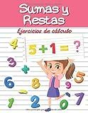 Sumas y Restas - Ejercicios de cálculo: 30 Páginas de Actividades - de 4 a 8 años - Matemáticas - Aprendizaje en casa - Niña