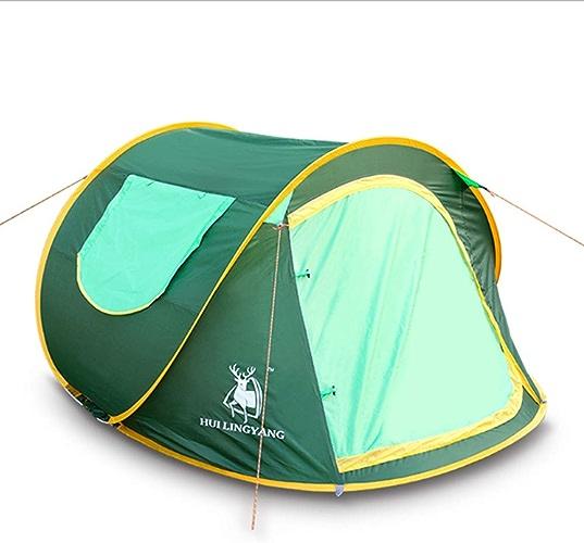 Tente De Camping pour 2-3 Personnes, Tente à Dos Monocouche Imperméable 4 Saisons 3 Personnes, Tente De Camping,vert