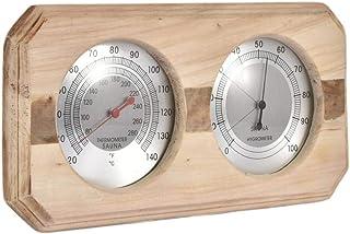 Jsmhh Doble Dial termómetro higrómetro Cubierta Colgante de Pared de Humedad Relativa y Temperatura del Monitor del Metro ...
