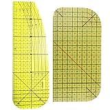 Nrpfell 2 Unids/Set Regla de MedicióN de Planchado Herramientas de Costura de Patchwork para Hacer Ropa Suministros de Costura DIY