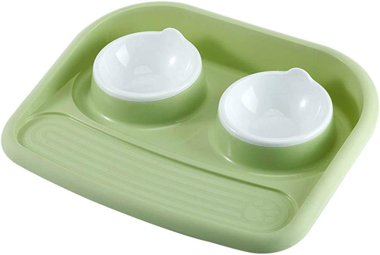 Feeder Bowl Feeder for Dogs Dog Accessories, Antibacterial Pet Dog Feeding Bowls, NonSlip Plastic NonSpill Food Plate Dog Cat Food Feeder for Small Medium Dogs Feeding Tool,Green