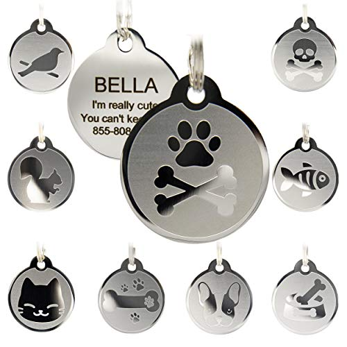 Custom Engraved Stainless Steel Pet ID Tags - Engraved Personalized Identification Durable  Nevada