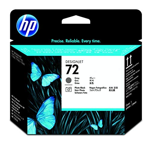 HP 72 C9380A Cabezal de Impresión HP DesignJet Gris y Negro Fotográfico, para Impresoras Plotter de Gran Formato T2300 eMFP, T1300, T1200, T1120, T1100, T1100 MFP, T795, T790, T770, T620, T610 y T600