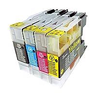 ブラザー LC12-(BK/C/M/Y)4CL 4本セット 『BROTHER』互換インクカートリッジ 残量検知機能付き(ICチップ付) 『納得の安心保証付き』 【Color Shop製品】