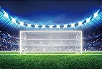 Football Photography Backdrops - Soccer Photo Background - Yeele 10x8ft Vinyl Football Fields Goal Sports Match Backdrop Picture for Fan Adult Boy Kids Portrait Photo Booth Shooting Studio Props