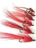 Angelfliegen, Fliegen fr Lachse, Allys Shrimp, Gre 6-10,Doppelpack, 6Stck, Rot, # 152