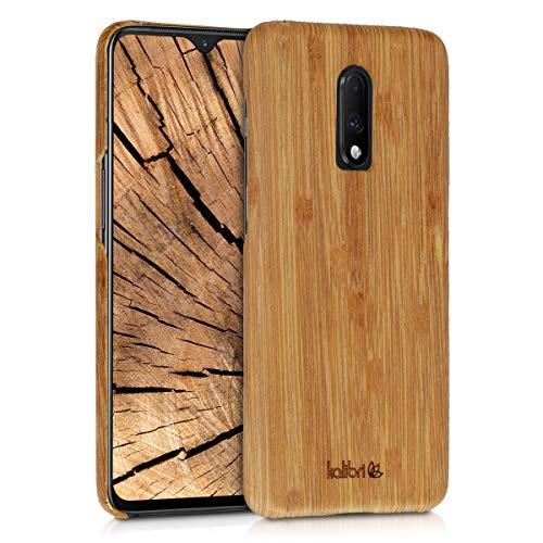 Preisvergleich Produktbild kalibri OnePlus 7 (2019) Hülle - Handy Holz Schutzhülle - Slim Cover Case Handyhülle für OnePlus 7 (2019) - Hellbraun