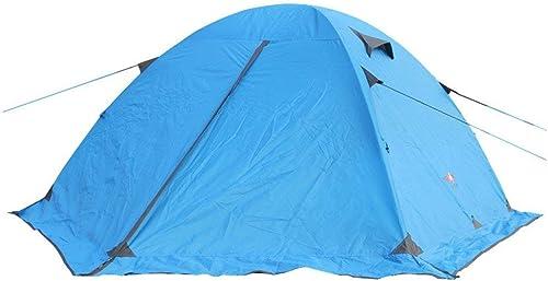 Sortie Udstyr, Tente de Camping 3-4 Personnes 4 Saisons Tente Extérieure en Aluminium de Double Couche de Polonais Besoin D'être Assemblées Pour les Sports en Plein Air Portable Tente Instantanée D
