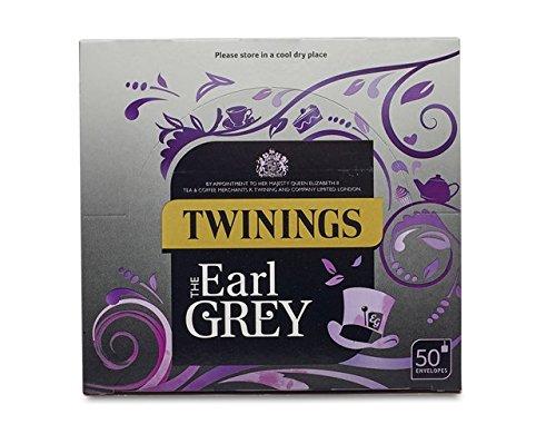 Twinings Earl Grey 50 bolsitas de te envueltas individualmente por caja