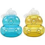 com-four 2X Trampa para Insectos de plástico para Colgar, Avispas, Mosca y Avispa para Exteriores [Color varía!] (02 Piezas - Colorido 15cm)