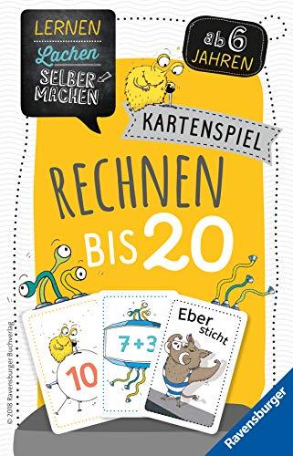 Ravensburger Kinderspiele Lernspiel 80349 - Lernen Lachen Selbermachen: Kartenspiel Rechnen bis 20