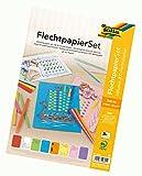 folia 70251 - Flechtpapier Set, 24 Flechtbögen DIN A4, inklusive 300 Flechtstreifen, 8 farbig sortiert