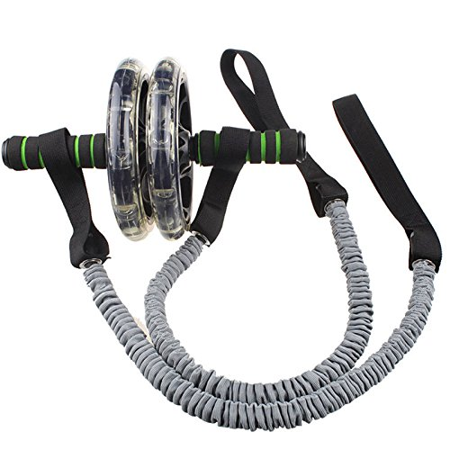Metermall Home 1 stuks ab wiel hulpgereedschap fitness wiel trekkoord elastische spanband voor stevige oefening