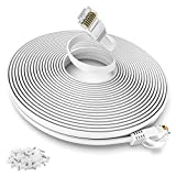 Long Ethernet Cable 30m, CAT.6 100ft Network Cable, Flat Network Cable RJ45...