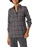 Goodthreads Brushed Flannel Popover Shirt Camisa, Negro/Rosa, Cuadros Escoceses, XXL