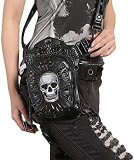 winnerruby Bolsa Steampunk Punk Retro Bicicleta para Motocicletas al Aire Libre Paquete de Cadera//Muslos Bolsa de Cintura g/ótica Rock Bolsa de Pierna ca/ída Bolso Bandolera Negro para Mujer