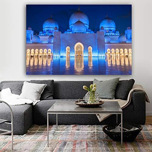 SADHAF Poster muurkunst architectuur landschap druk canvas schilderij muur woonkamer huis decoratie afbeelding 60x80cm (kein Rahmen) A4.