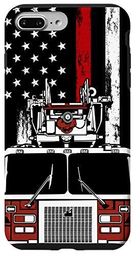 iPhone 7 Plus/8 Plus US Flag Firefighter Phone Case Firetruck Gift Fireman Phone Case