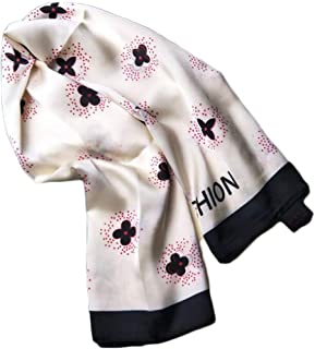 Fashion Womens Silk Scarf Printing Star Pattern Scarf Hair Band Wild Scarf Scarf (Color : 01, Size : 90 * 90cm)