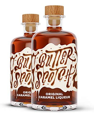 Butterscotch Original Caramel Liqueur - Karamell Likör im Doppelpack (2 x 0.5l)