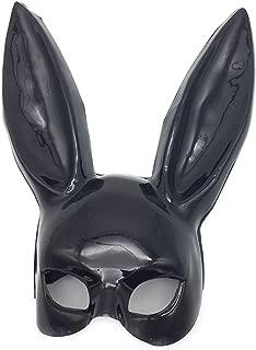 WNGCAR AU Halloween Masquerade Bunny Earmuffs Bar KTV Party Rabbit Mask Cute Rabbit Mask (Color : Black)