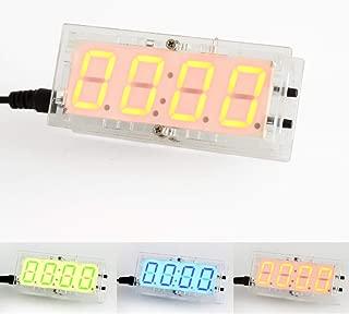 DDIY Electronic Digital Clock Kit DIY Soldering Project C51 SCM Optical Temperature Control Large Screen