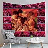 Aatensou K-Pop BTS - Arazzo decorativo da parete per la casa, la camera da letto, il soggiorno, la camera da letto, il soggiorno e il dormitorio (g6,100 x 150 cm)