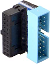 Cablecc USB 3.0 20pin Male to Female Extension Adapter Up Down Angled 90 Degree for Motherboard Mainboard (UP Angled)